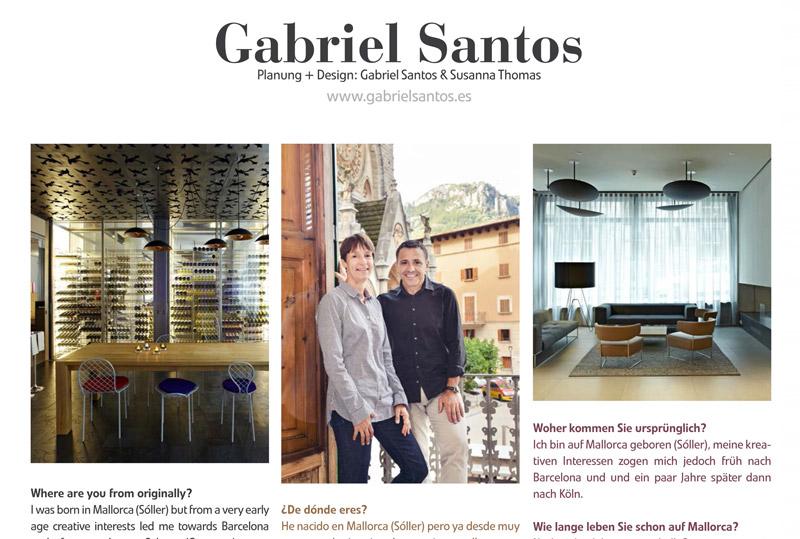 Gabriel santos publikation in der spanischen Wohn zeitschrift